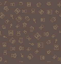 coffee brown seamless pattern vector image