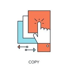 Copy Icon vector image vector image
