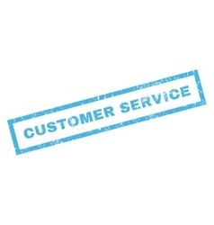 Customer Service Rubber Stamp vector image vector image