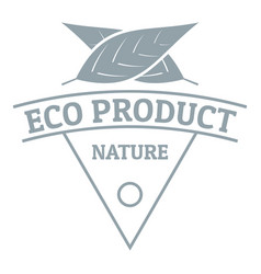 eco product logo simple gray style vector image vector image