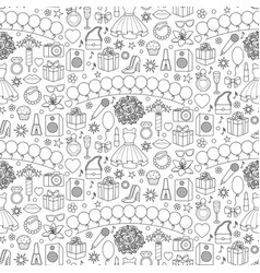 girl party seamless pattern vector image vector image