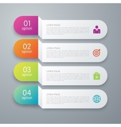 Infographics four paper strips vector