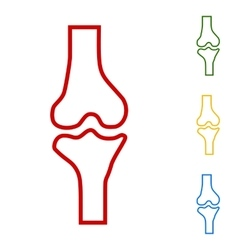 Knee joint sign vector image vector image