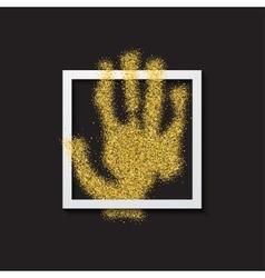 Modern hand gold glitter poster vector
