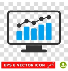 Monitoring Eps Icon vector image