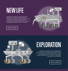 New life concepts with research rovers vector