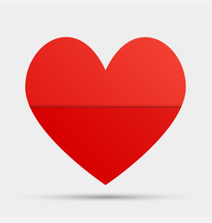 one red heart valentines day love card vector image