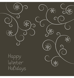 Ornament with snowflakes vector image vector image