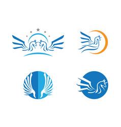 Pegasus logo template d vector