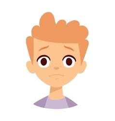 Sadness boy vector