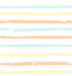 seamless pattern with pastel color painted stripes vector image