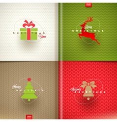 Set of christmas greeting design vector
