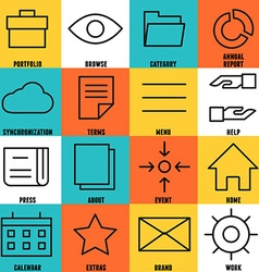 Set of linear internet service icons - part 4 vector image