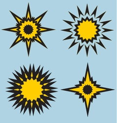 Stars and sun signs vector