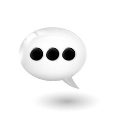 Talk bubble vector image vector image