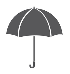 Umbrella icon isolated on white background Grey vector image vector image