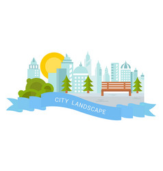 website banner and landing page city landscape vector image