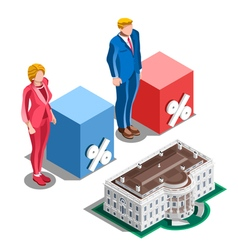 Election infographic presidential pools isometric vector