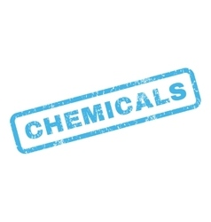 Chemicals rubber stamp vector