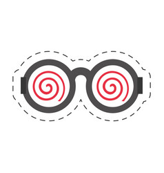 Cartoon funny eyeglasses april fools vector