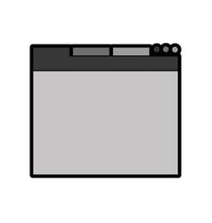 Grey web tab vector