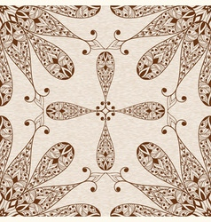 Seamless Abstract Ethnic Floral Patten vector image