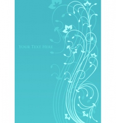 Beautiful background with floral ornament vector