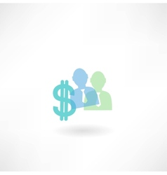 man and dollar icon vector image