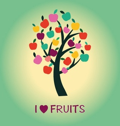 Fruit tree apple tree symbol vector
