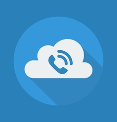 Cloud computing flat icon handset vector
