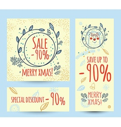 Christmas sale design template web banner vector