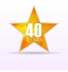 Star background anniversary 40 vector