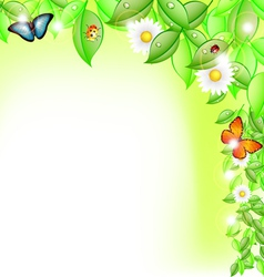 Fresh leaves with life vector