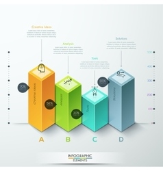 Abstract 3d diagram infographics options vector