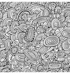 Vintage line art abstract ornamental seamless vector