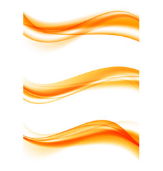 Abstract elegant curved wavy lines set vector