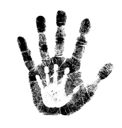 Adult and child hand print vector image