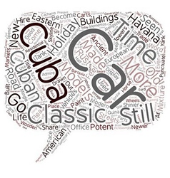 Classic Cars In Cuba text background wordcloud vector image vector image