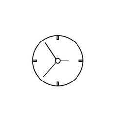 Clock line icon time and watch graphics vector