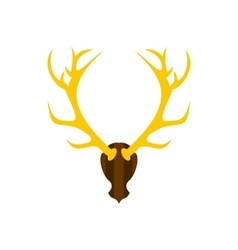 Deer antler icon flat style vector image vector image