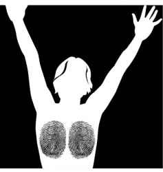 finger print woman vector image vector image