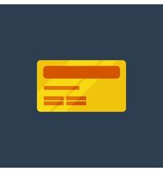Flat kredit icon vector image