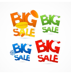 Four Seasons Colorful Big Sale Titles vector image