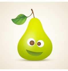 funny smiling pear vector image vector image