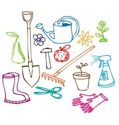 Garden doodles vector