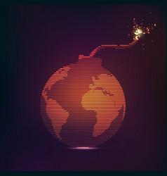 globe bomb vector image vector image