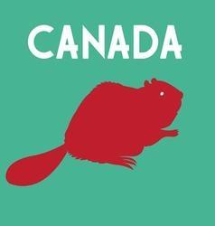 Graphic symbol beaver a color country canada vector