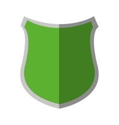 green shield protection insignia security shadow vector image
