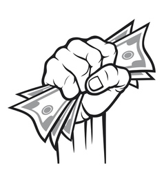 Money in the hand vector
