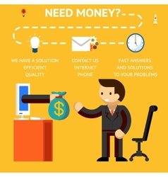 Need money concept vector image vector image
